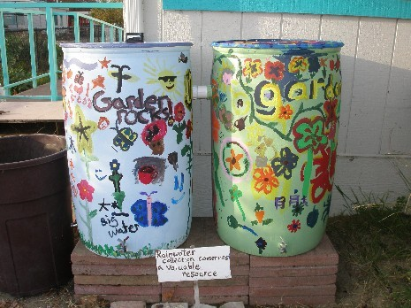 Our rain barrels are ready for action!